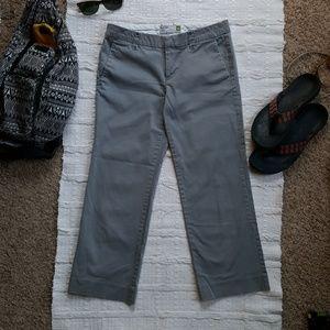 Grey Khaki Cropped Pants- Size 4